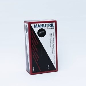 "Product photo of ""Gloves Large Black Powerfree (Box 100 pcs)"""