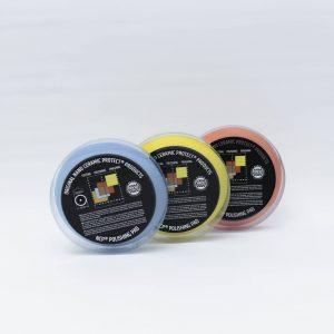 "Product photo of ""Nano Ceramic Protect Blue Pad Hard Cut 150mm Plate 125mm"""